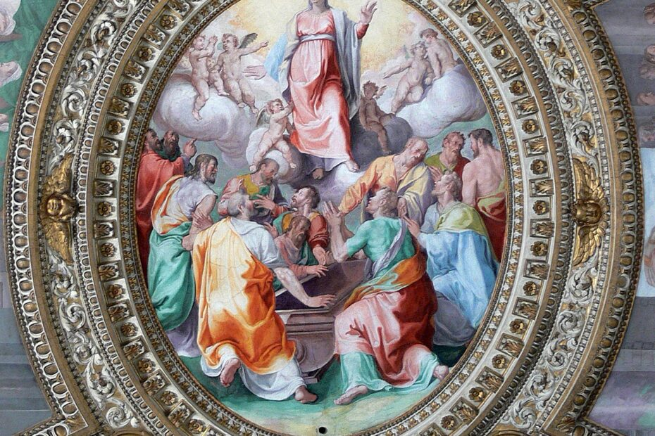 Ceiling fresco of the Assumption of Mary from a Rome basilica